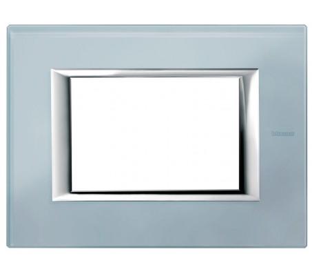 Bticino axolute placca vetro azzurro sera