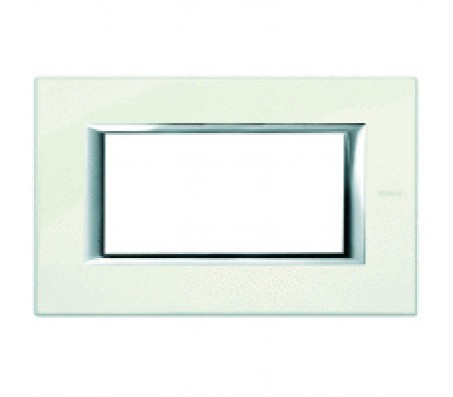 Bticino axolute placca 4P bianco Limoges