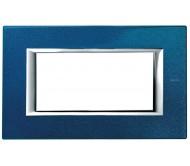 Bticino axolute placca 4P blu Meissen