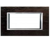 Bticino axolute placca 4P legno wengè