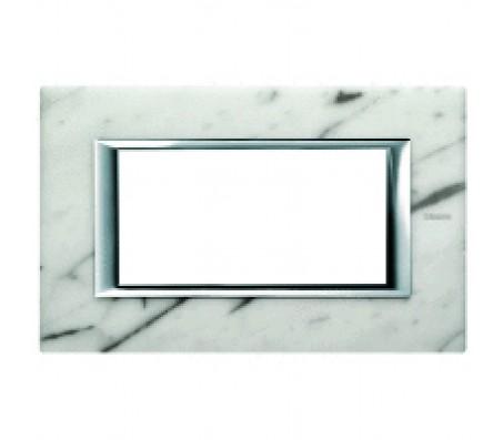 Bticino axolute placca 4P marmo Carrara