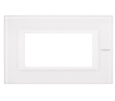 Bticino axolute placca 4P vetro bianco