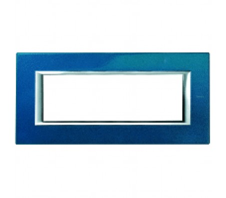 Bticino axolute placca 6P blu Meissen