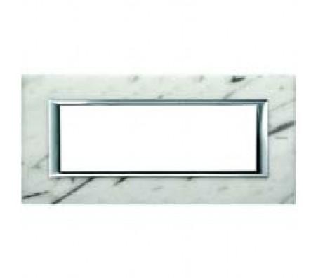 Bticino axolute placca 6P marmo Carrara
