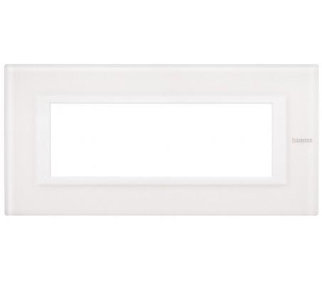 Bticino axolute placca 6P vetro bianco