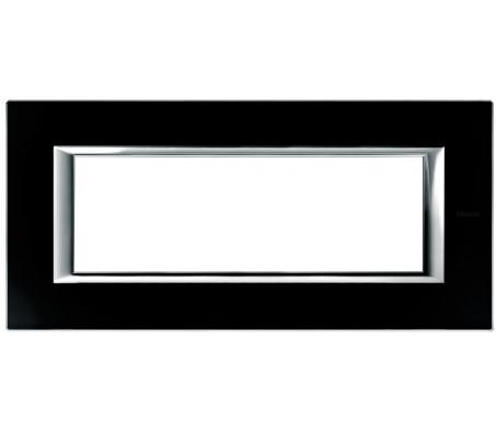Bticino axolute placca 6P vetro nero notte