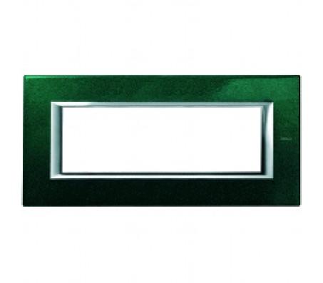 Bticino axolute placca 6P verde Sevres