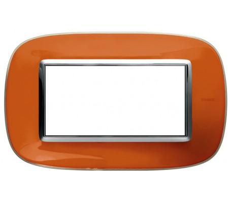Bticino axolute placca 4P arancio liquid
