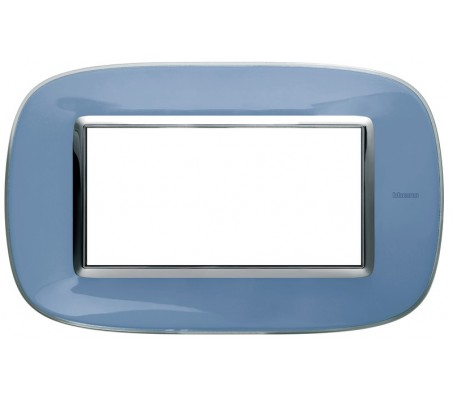Bticino axolute placca 4P azzurro liquid