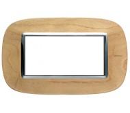 Bticino axolute placca 4P legno acero