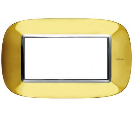 Bticino axolute placca 4P oro lucido