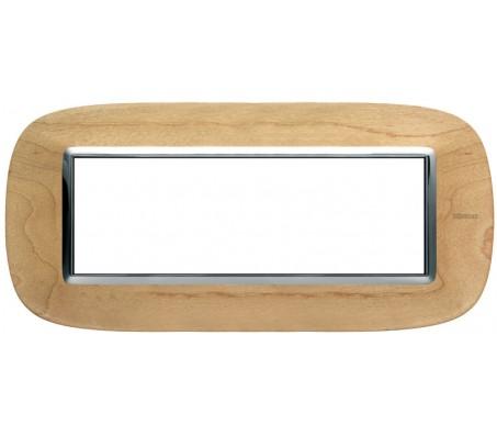 Bticino axolute placca 6P legno acero
