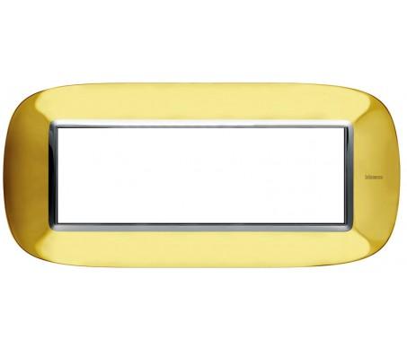 Bticino axolute placca 6P oro lucido