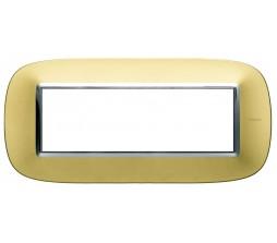 Bticino axolute placca 6P oro satinato