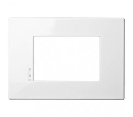 Bticino Axolute Air placca 3 moduli bianco