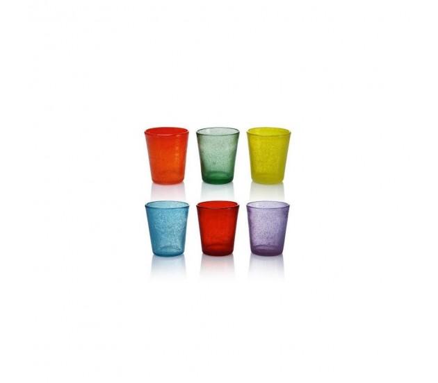 Bicchieri colorati in vetro - Disposizione bicchieri in tavola ...