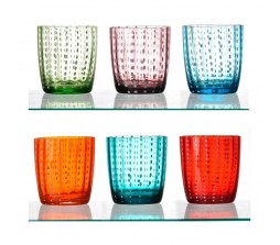 Bicchieri colorati fantasy in vetro