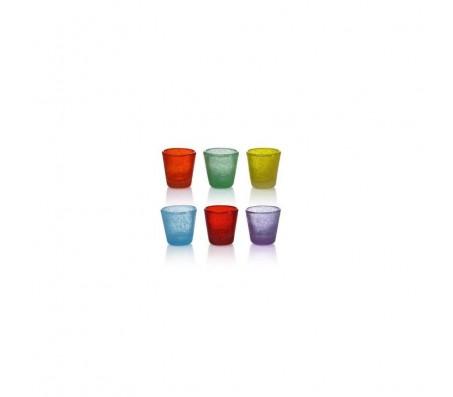 Bicchierini liquore colorati in vetro