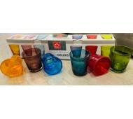Bicchieri colorati in vetro Queen Colors