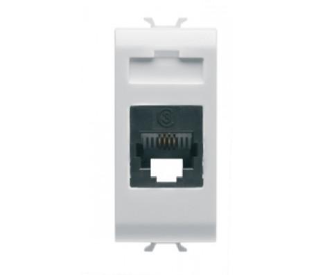 Gewiss chorus connettore telefonico RJ11 bianco