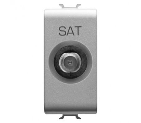 Gewiss chorus presa TV/SAT connettore F titanio
