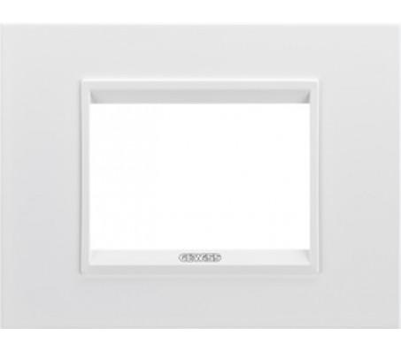 Gewiss chorus placca Lux 3 bianco monochrome