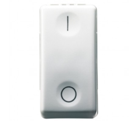 Gewiss system interruttore 2 poli bianco