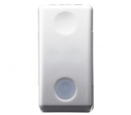 Gewiss system pulsante NA luminoso bianco
