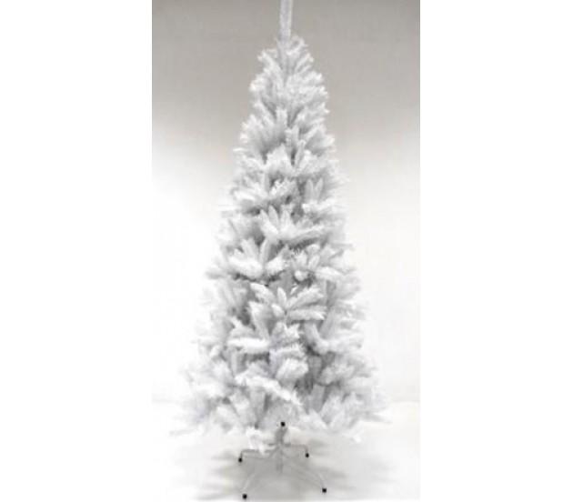 Albero Di Natale Bianco 90 Cm.Albero Di Natale Slim Bianco Montezuma 180cm