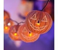 Catena 10 Zucche Halloween a led