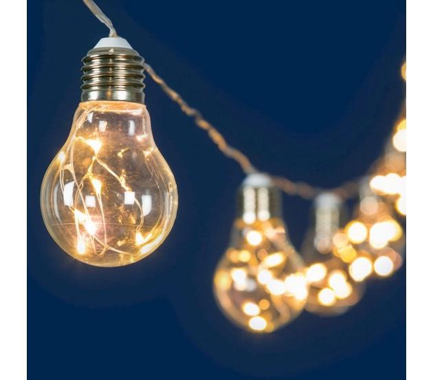 Schema Elettrico Luci Di Natale Led : Catena lampadine party a led