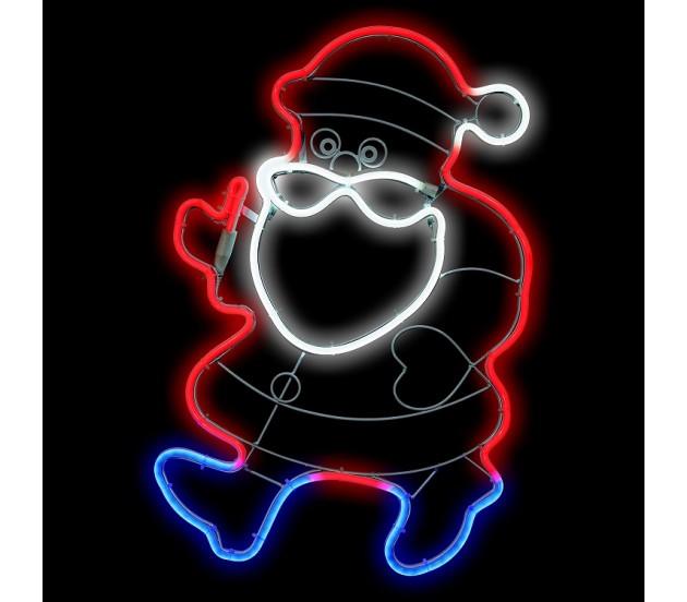 Babbo Natale tubo luminoso a LED