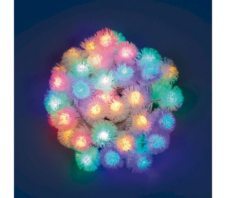 Catena 40 fiocchi di neve a led multicolore