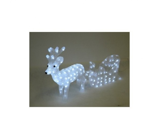 Renna con slitta luminosa led - Renna natalizia luminosa per giardino ...