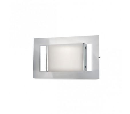 Plafoniera da parete in lastra di vetro trasparente