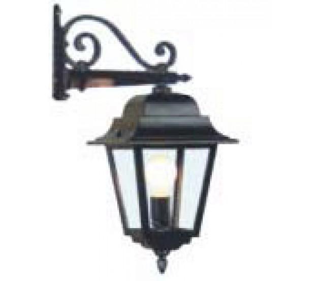 Lampada da parete lanterna in alluminio pressofuso - Lampioni in ferro battuto da esterno ...