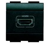 Bticino LivingLight presa HDMI antracite