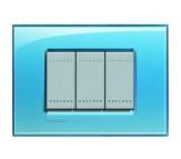 Bticino LivingLight placca quadra azzurro