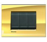 Bticino LivingLight placca quadra oro