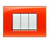 Bticino LivingLight placca quadra arancio