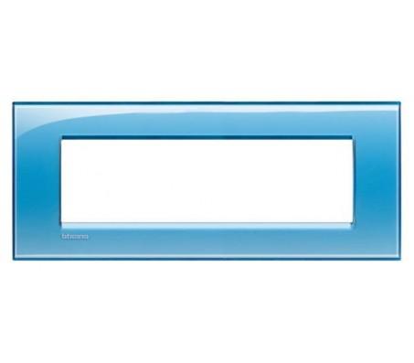 Bticino LivingLight placca 7 posti azzurro