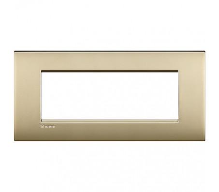 Bticino LivingLight placca Air 7 posti oro satinato