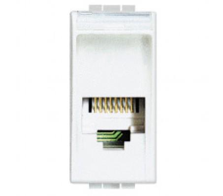 Bticino LivingLight connettore RJ11 bianco