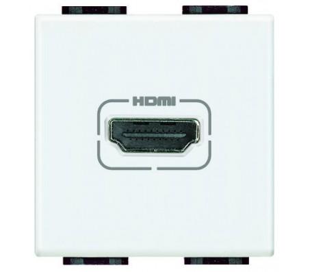 Bticino LivingLight presa HDMI bianca
