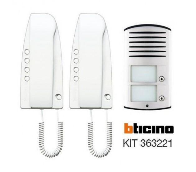 Kit Citofono Bifamiliare Bticino 2 Fili.Bticino Kit Audio Sprint Bifamiliare