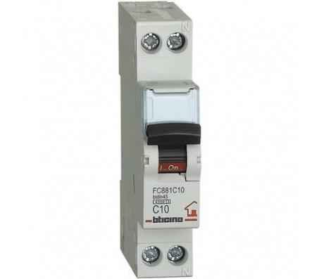 Bticino magnetotermico 1P+N 10A 4,5kA