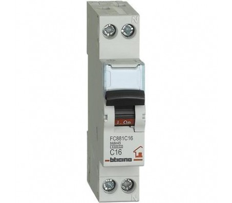 Bticino magnetotermico 1P+N 16A 4,5kA