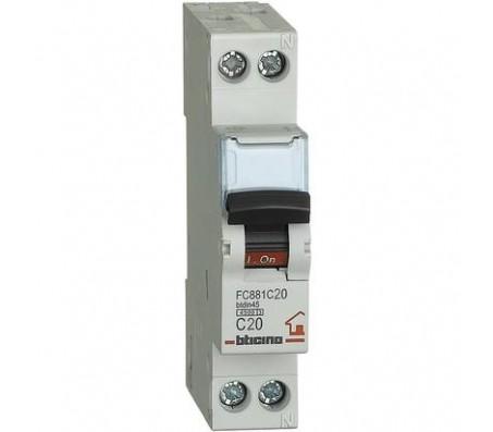 Bticino magnetotermico 1P+N 20A 4,5kA