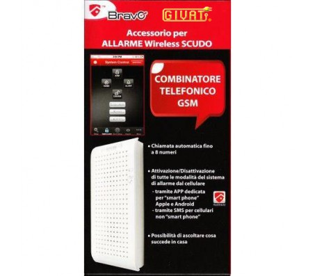 Combinatore telefonico GSM per Allarme Wireless Scudo