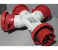 Adattatore elettrico Rosso 3P+N+T 16A 400V
